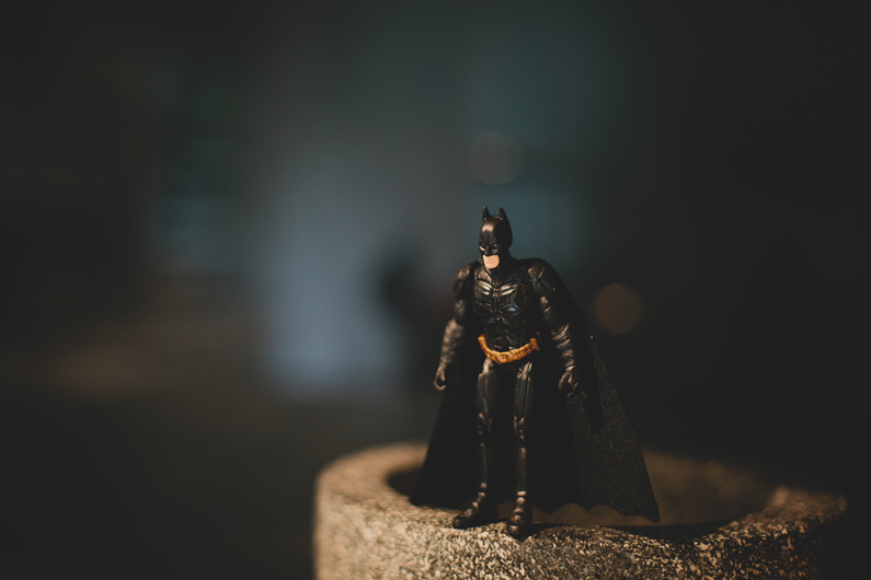 the batman, preparing